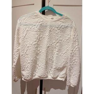 Korea Rose Print Sweater